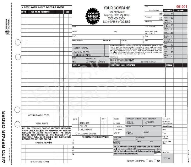 AROCC-365-4 | Smog & Auto Repair Form | CA Version | Smog Disclaimer (11'' x 8.5'')