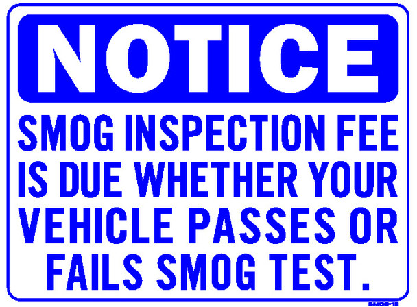 Sign - Inspection Fee Due… (18in x 24in)