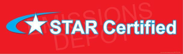 STAR CERTIFIED   3FT X 10FT   Vinyl Banner