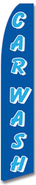 Swooper Flag - Blue Carwash