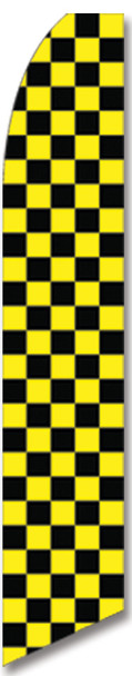 Swooper Flag - Black Yellow Checkered