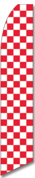 Swooper Flag - Checkered Red White