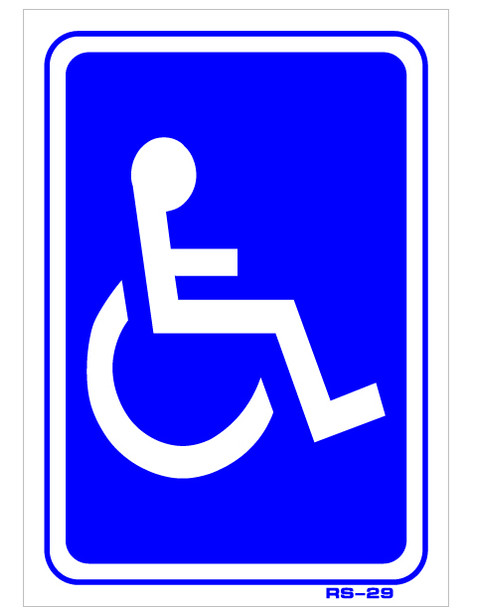 Handicap Decal Sticker Plastic or Decal 7 x 5
