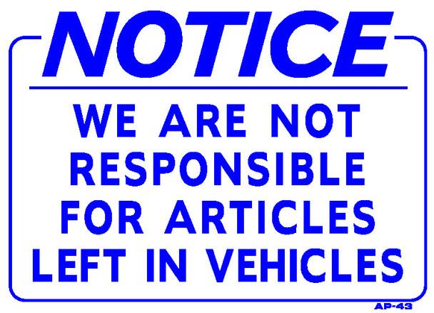 Notice Sign 10 x 14