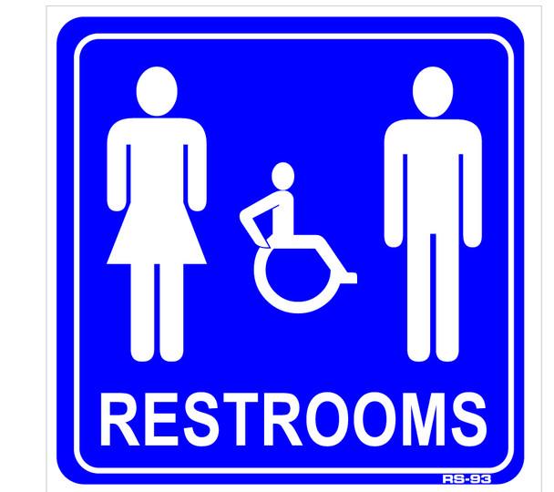 Restroom Sign 9 x 9