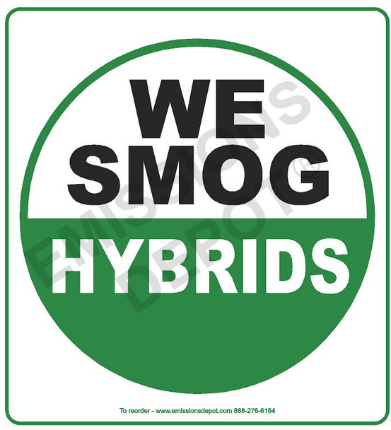 We Smog Hybrids Plastic | 26in x 26in