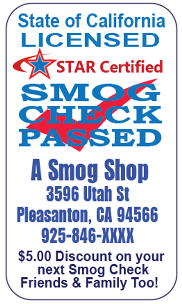"""Smog Checked PASSED Windshield Sticker 