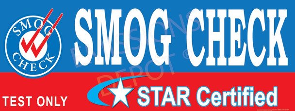 Smog Check | Star Certified | Test Only (Blue)