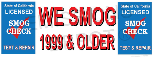 We Smog 1999 & Older | Old Version | Test and Repair | Vinyl Banner