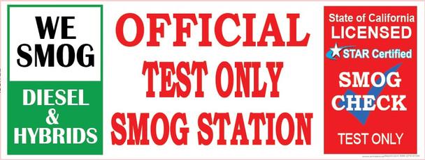 We Smog Diesel & Hybrids | Official Test Only Vinyl Banner