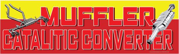 Muffler and Catalytic Converter Vinyl Banner
