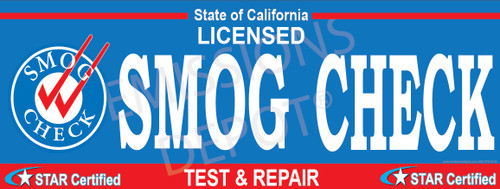 Details about  /Smog Check Licensed Test Only Advertising Vinyl Banner Sign fix