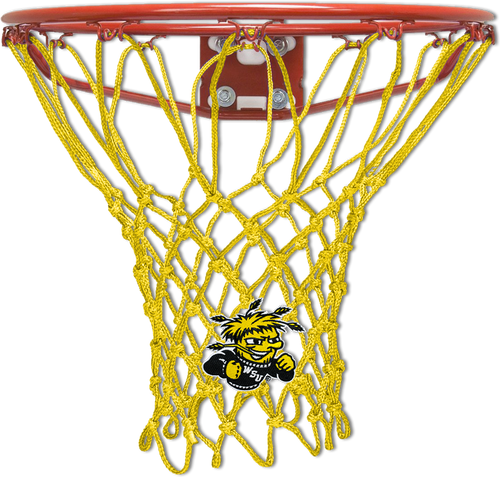 WSU Wichita State University Shockers Yellow Basketball Net