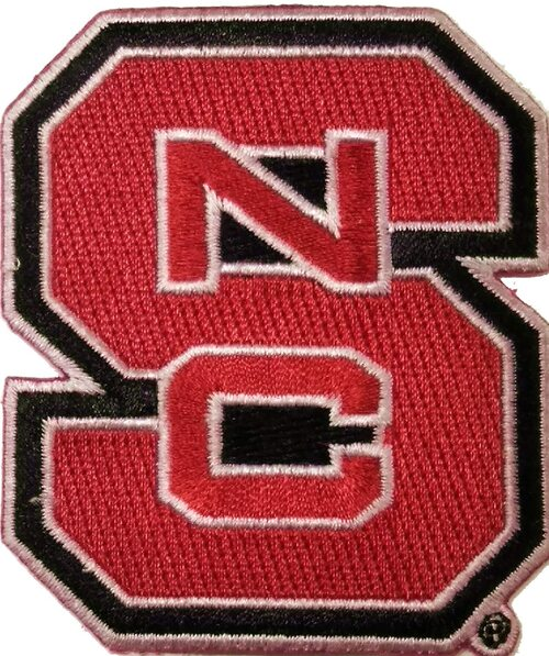 North Carolina State University Embroidered Patch
