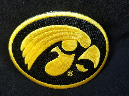 University of Iowa Hawkeyes Embroidered Patch Sew-on, Iron-on