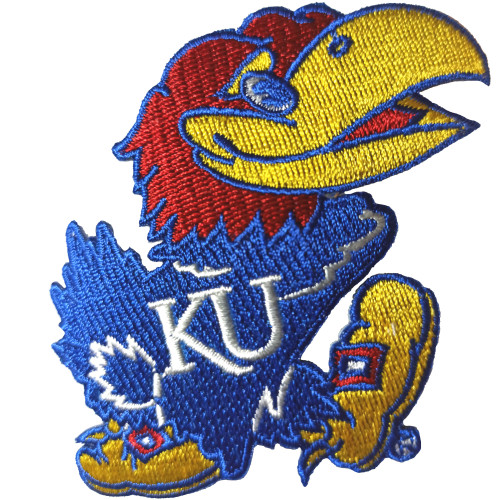 KU Kansas Jayhawk Patch