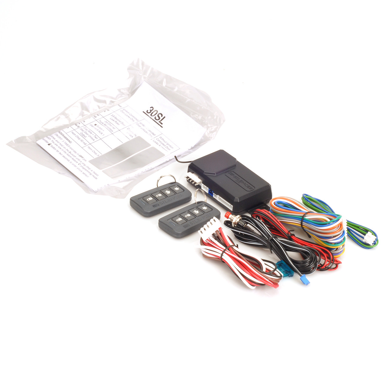 SILENCER 30SL ONE-WAY REMOTE CAR ALARM SECURITY AND KEYLESS ENTRY SYSTEM