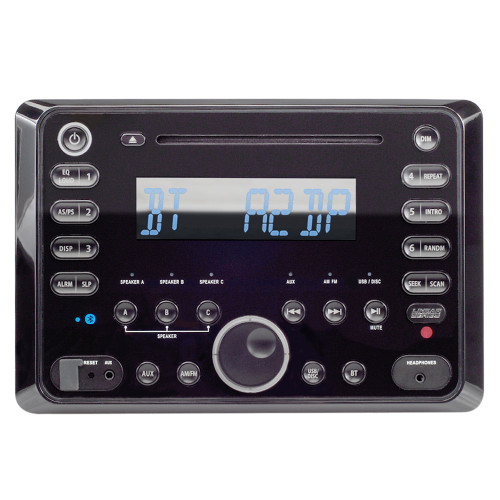 Linear Series RV5090   AM/FM/CD/DVD/BT Bluetooth 120 Watt Wall Mount Receiver with Remote Control - Front View