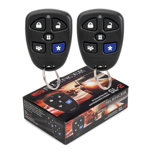 Silencer SL-2 | 2 Channel Security System - no siren - Packaging & Remotes