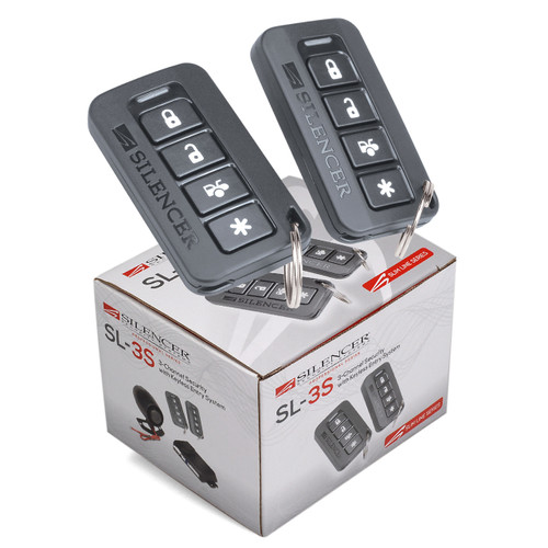 Silencer SL-3S | 3 Channel Security System - Packaging & Remotes
