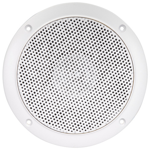 "AquaVibe WR45W | 5"" Dual Cone Waterproof Speaker (White) - Front View"