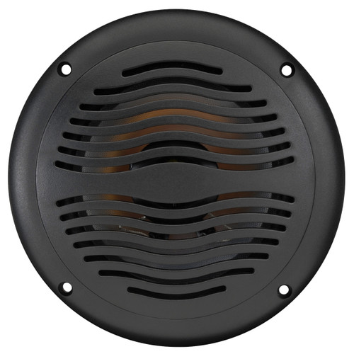 "AquaVibe WR65B | Marine Waterproof 6 1/2"" 2-Way Speaker with Grill - Front View"