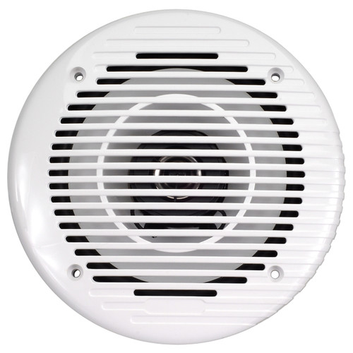 "AquaVibe WR85W | Marine Waterproof 6 1/2"" 2-Way Speaker (White) - Front View"