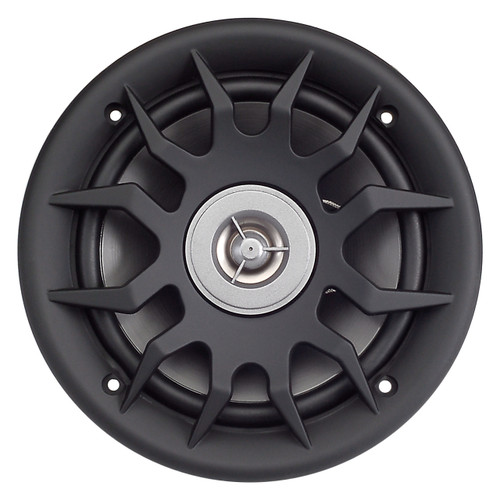 """AquaVibe WR6LS-B   6 1/2"""" 2-Way Waterproof Speaker with Grill (Black) - Front View"""