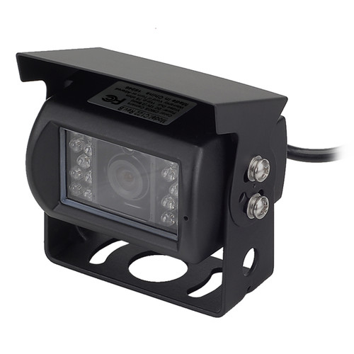 MobileVision C122 | Waterproof Rear View Backup Color CMOS Camera with Night Vision LEDs - 3/4 View