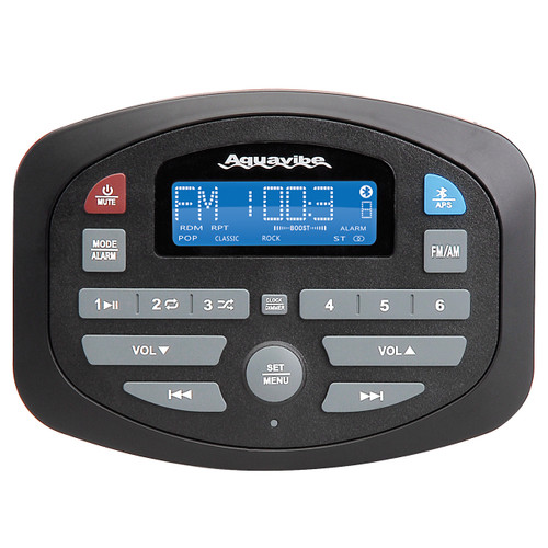 AquaVibe SP3 | AM/FM Bluetooth Waterproof Compact Marine Receiver - Front View