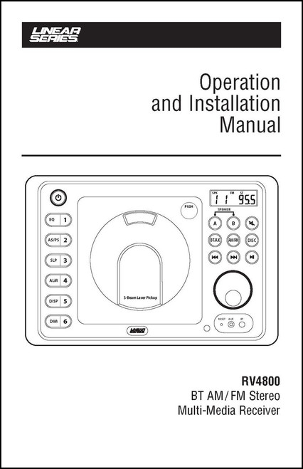 Linear Series RV4800 | Operation & Installation Manual