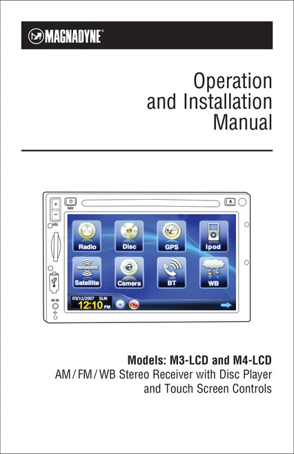 Magnadyne M3-LCD/M4-LCD | Operation & Installation Manual