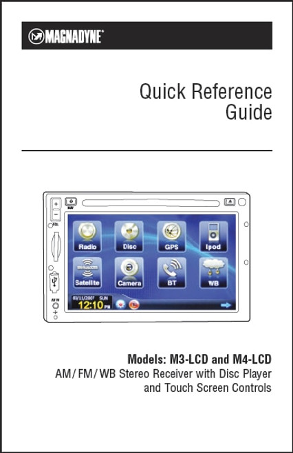 Magnadyne M3-LCD/M4-LCD | Quick Reference Guide