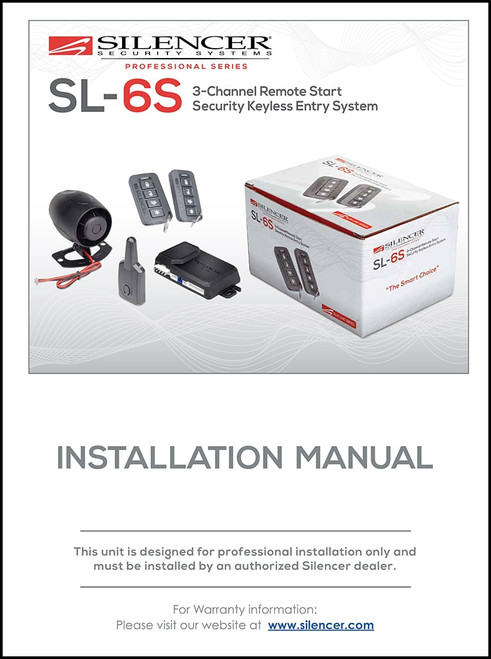 Silencer SL-6S | Installation Manual