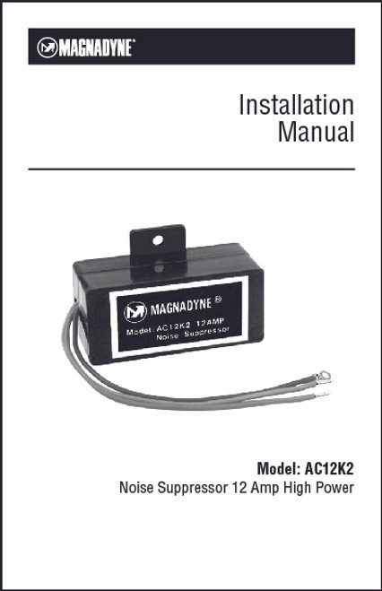 Magnadyne AC12K2 | Installation Manual