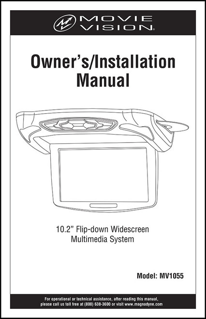 MOVIEVISION MV1055 | User's Manual