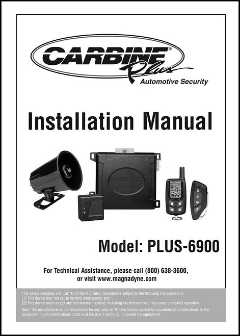 CARBINE PLUS-6900 | User's Manual