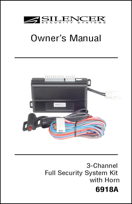 Silencer 6918A   Owner's Manual