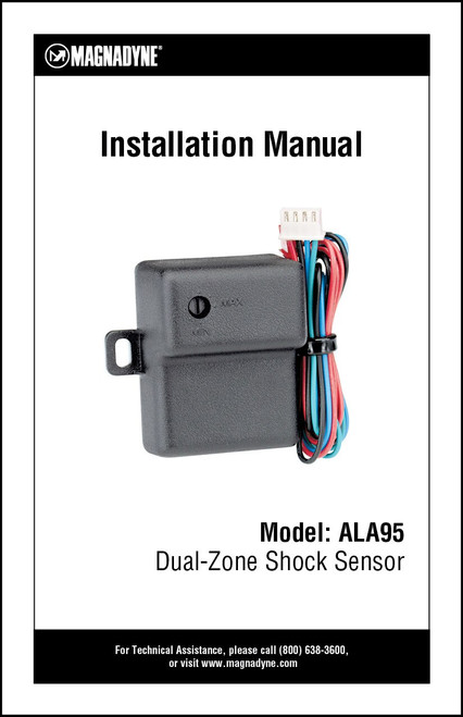 Magnadyne ALA95 | Installation Manual
