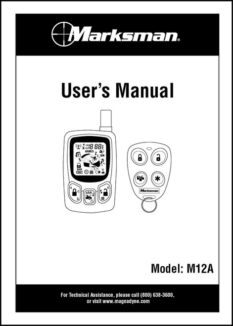 Marksman M12A | Owner's Manual