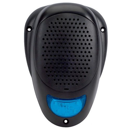 """Linear Series LS2-BLU   Water Resistant 3"""" Surface Mount Satellite Speaker with Blue LED Lighting - Front View"""