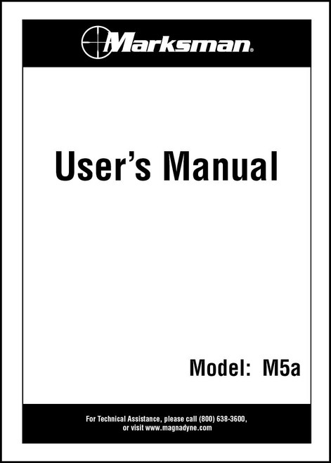 Marksman M5A | User's Manual