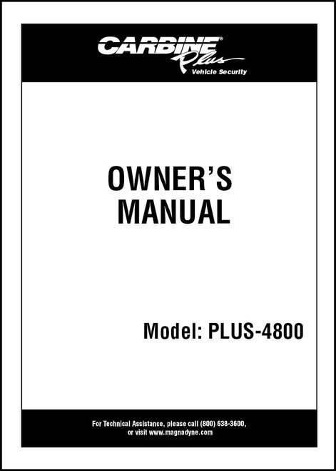 Carbine Plus-4800 | Owner's Manual