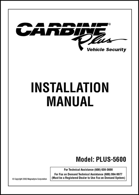 Carbine Plus-5600 | Installation Manual