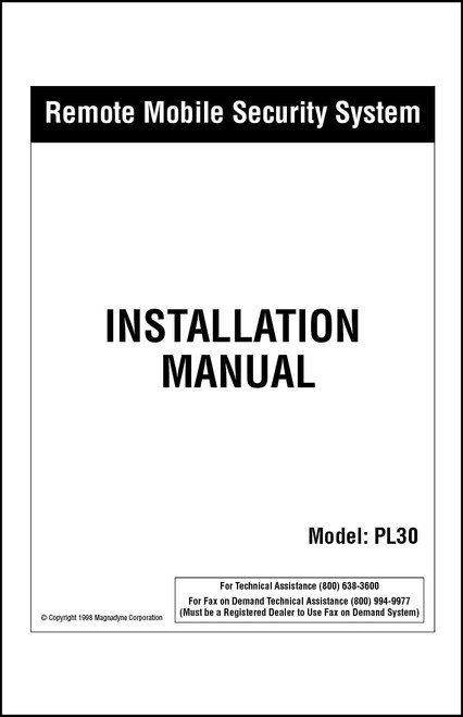 Carbine PL30 | Installation Manual