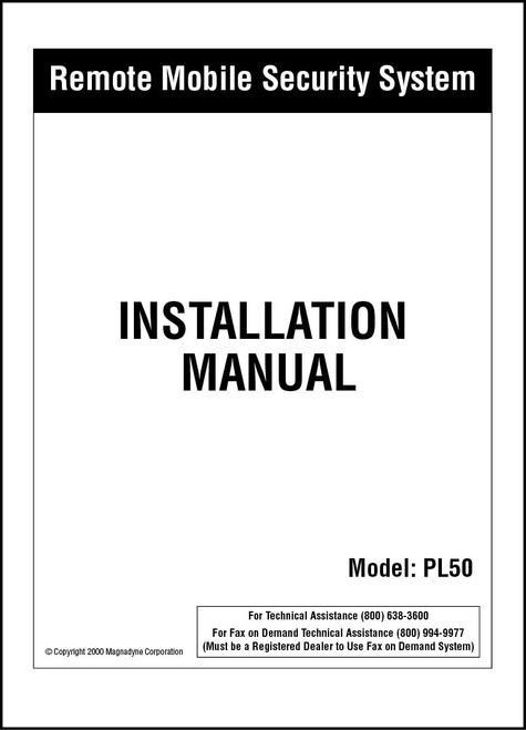 Carbine PL50 | Installation  Manual
