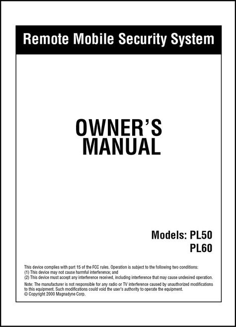Carbine PL50/PL60 | Owner's Manual