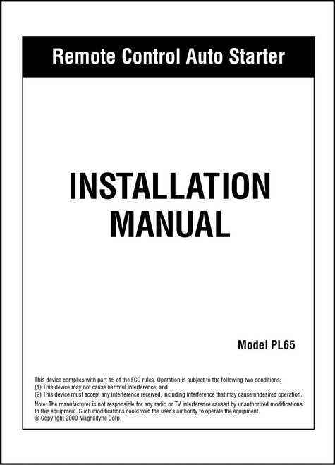 Carbine PL65 | Installation Manual