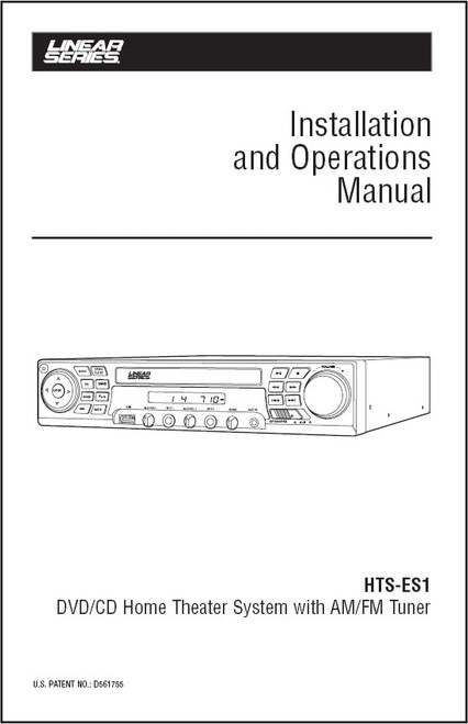Linear Series HTS-ES1 | Installation and Operations Manual