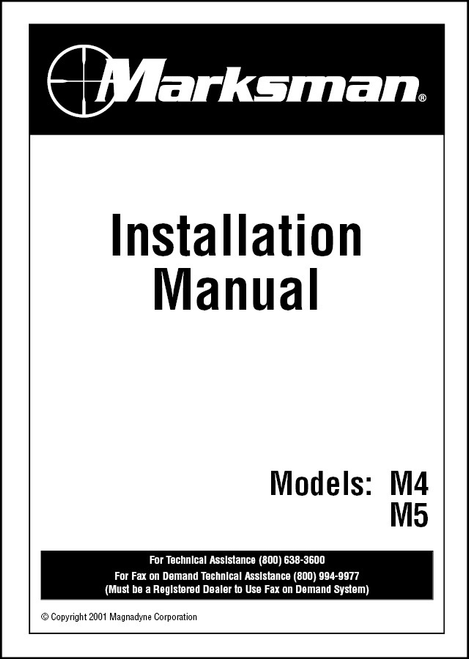 Marksman M4/M5 | Installation Manual